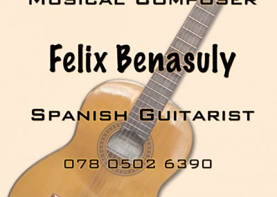Felix Guitar Lessons - Flyer